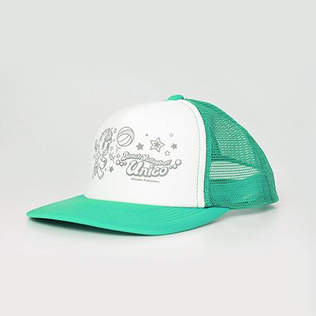 【ビーチバレー×ユニコ】メッシュキャップのエメラルドグリーンの写真