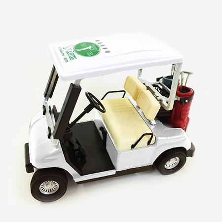 【ゴルフ×アトム】ミニチュアカート ホワイトの写真