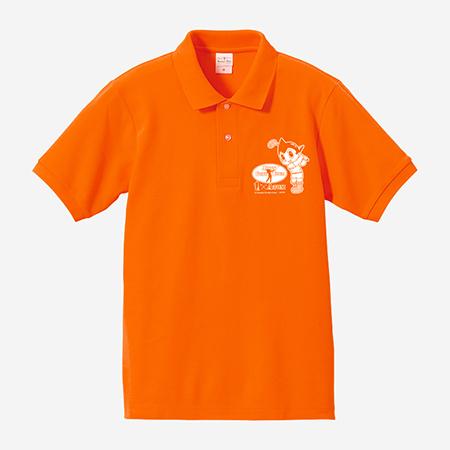 【ゴルフ×アトム】ポロシャツ オレンジの写真