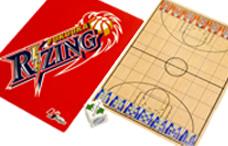 ライジング福岡のゲーム付き下敷き(アナゲー)の写真