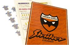 シュライカー大阪のゲーム付き下敷き(アナゲー)の写真