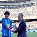 【速報】弊社アドバイザー:岡山一成(奈良クラブ所属)が天皇杯「SURUGA I DREAM Award」を受賞の写真