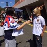 奈良クラブの公認キャラクター、大和鹿次郎登場!の写真