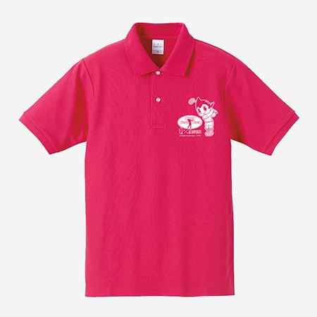 【ゴルフ×アトム】ポロシャツ ピンクの写真
