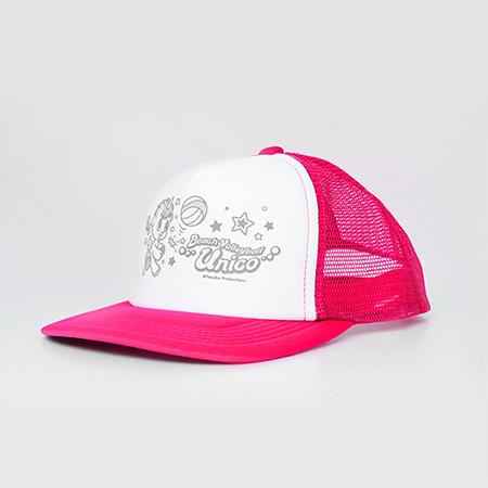 【ビーチバレー×ユニコ】メッシュキャップのピンクの写真