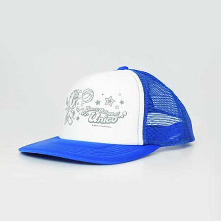 【ビーチバレー×ユニコ】メッシュキャップのブルーの写真