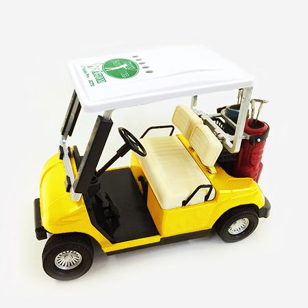 【ゴルフ×アトム】ミニチュアカート イエローの写真
