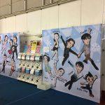 日本スケート連盟と手塚プロダクションのコラボ商品の販売の写真
